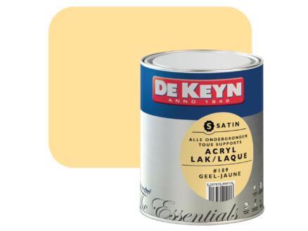 De Keyn laque acrylique satin 0,75l jaune #189