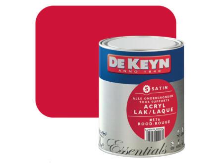 De Keyn laque acrylique satin 0,75l rouge #576