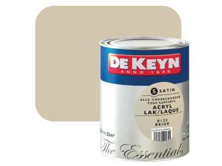 De Keyn laque acrylique satin 2,5l beige #124