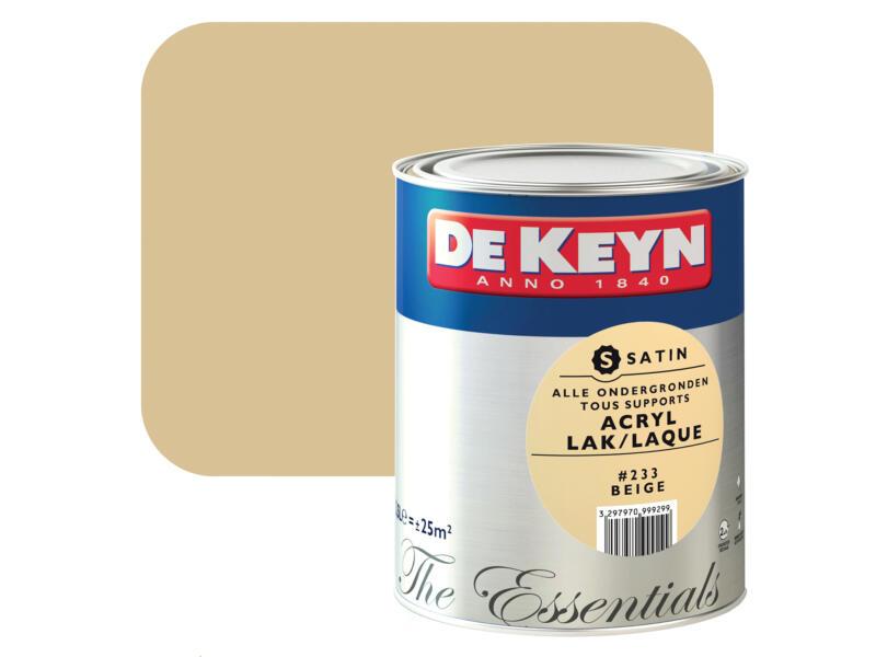 De Keyn laque acrylique satin 2,5l beige #233