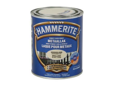Hammerite laque brillant 0,75l blanc cassé