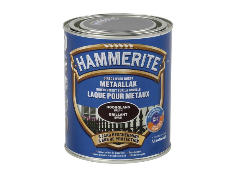 Hammerite laque brillant 0,75l brun foncé