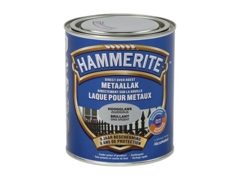 Hammerite laque brillant 0,75l gris argent