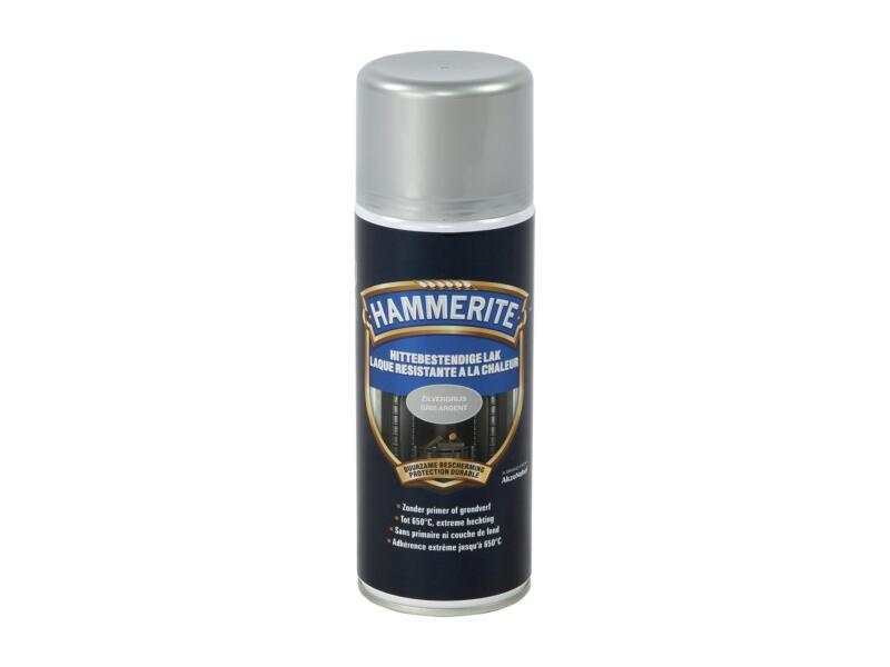 Hammerite laque en spray haute température 0,4l gris argent