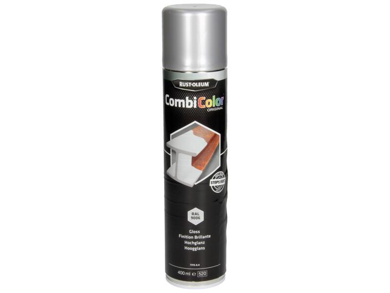 Rust-oleum laque en spray peinture métal brillant 0,4l aluminium blanc