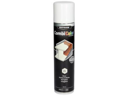 Rust-oleum laque en spray peinture métal brillant 0,4l blanc pur