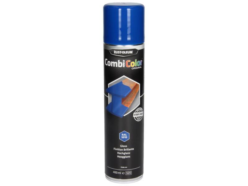 Rust-oleum laque en spray peinture métal brillant 0,4l bleu gentiane