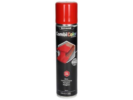 Rust-oleum laque en spray peinture métal brillant 0,4l rouge feu