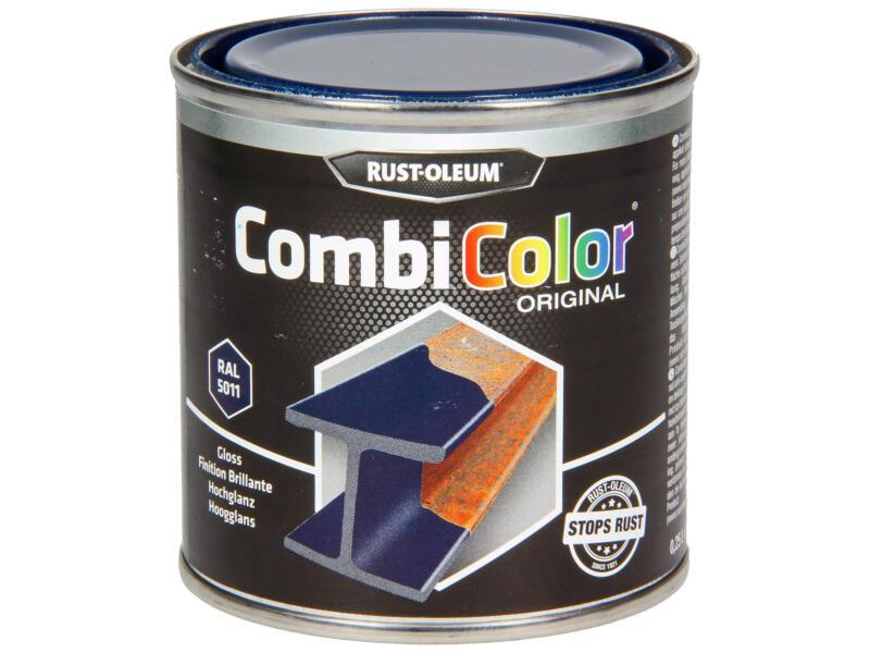 Rust-oleum laque peinture métal brillant 0,25l bleu acier
