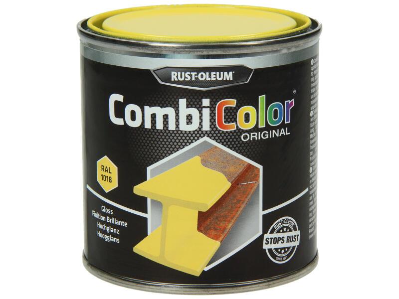 Rust-oleum laque peinture métal brillant 0,25l jaune zinc