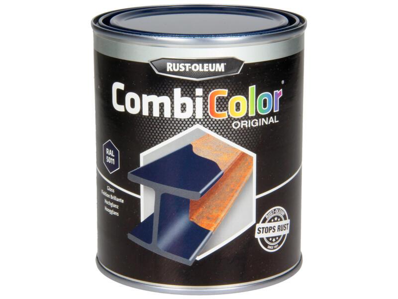 Rust-oleum laque peinture métal brillant 0,75l bleu acier