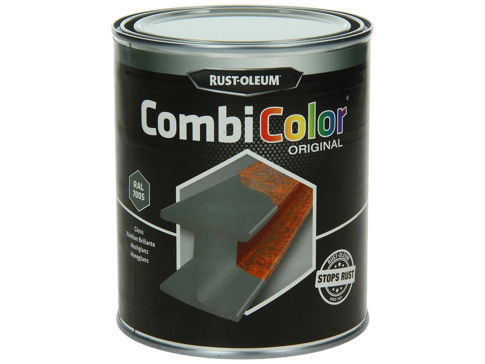 Rust-oleum laque peinture métal brillant 0,75l gris souris   Hubo