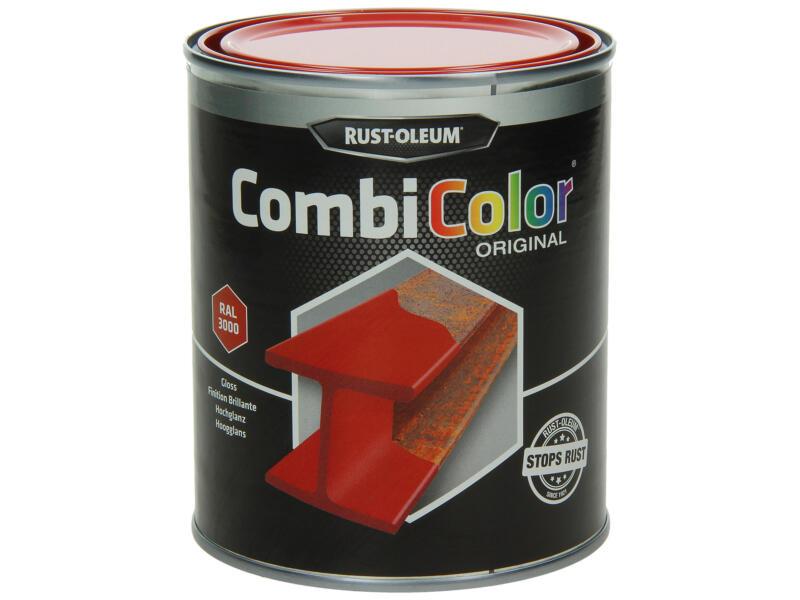 Rust-oleum laque peinture métal brillant 0,75l rouge feu