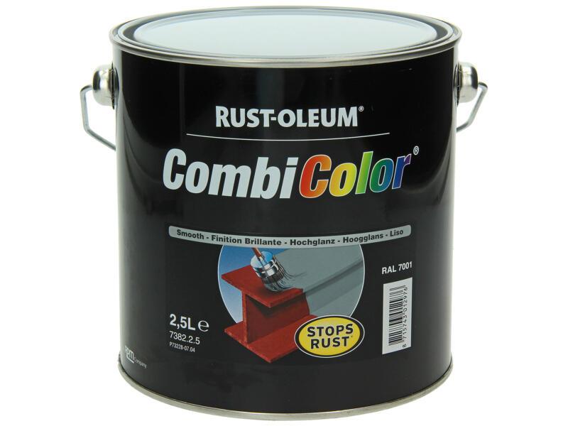 Rust-oleum laque peinture métal brillant 2,5l gris argent