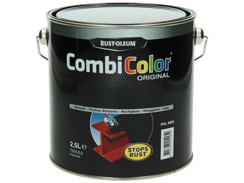 Rust-oleum laque peinture métal brillant 2,5l noir foncé