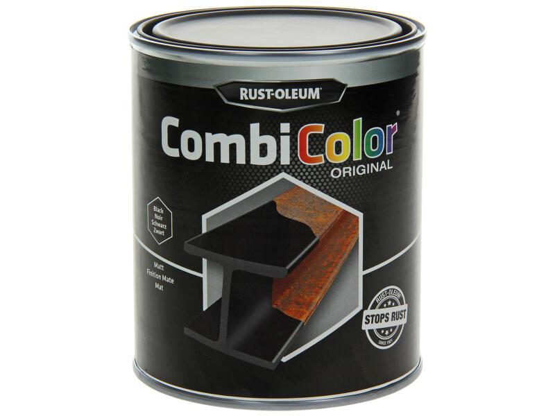 Rust-oleum laque peinture métal mat 0,75l noir
