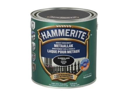 Hammerite laque peinture métal satin 2,5l noir