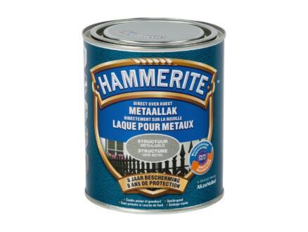 Hammerite laque peinture métal structure 0,75 gris métal