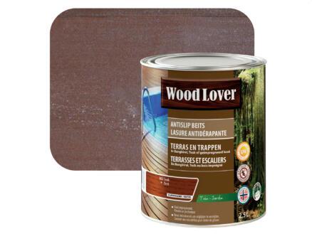 Wood Lover lasure antidérapante 2,5l teck #360