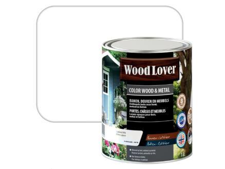 Wood Lover lasure bois & métal 1l blanc Lapon #500