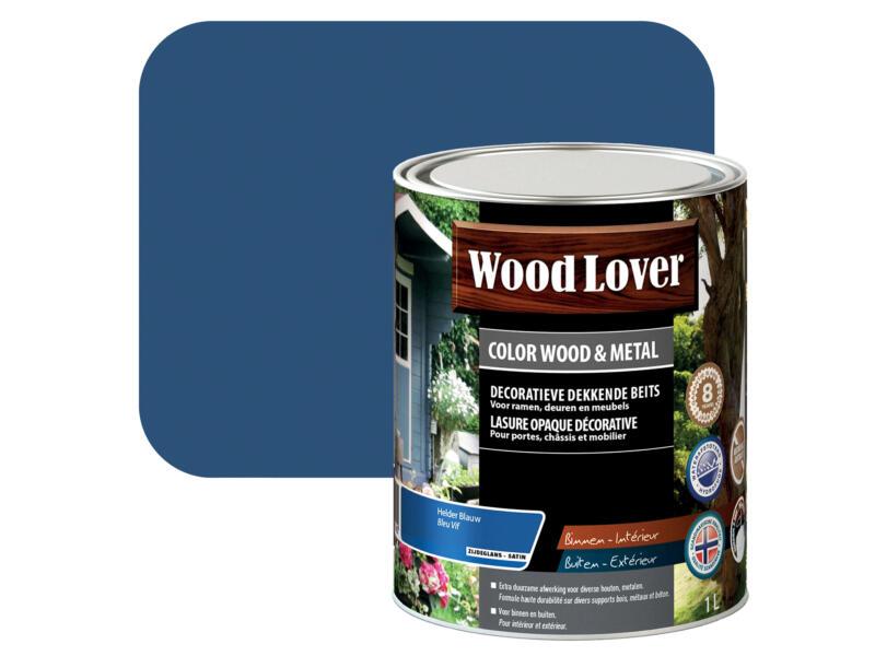Wood Lover lasure bois & métal 1l bleu vif #870