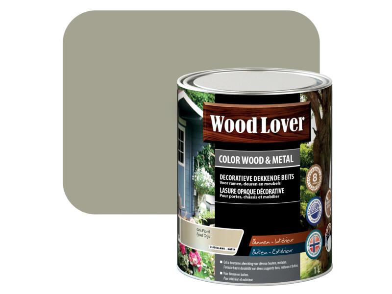 Wood Lover lasure bois & métal 1l gris fjord #550