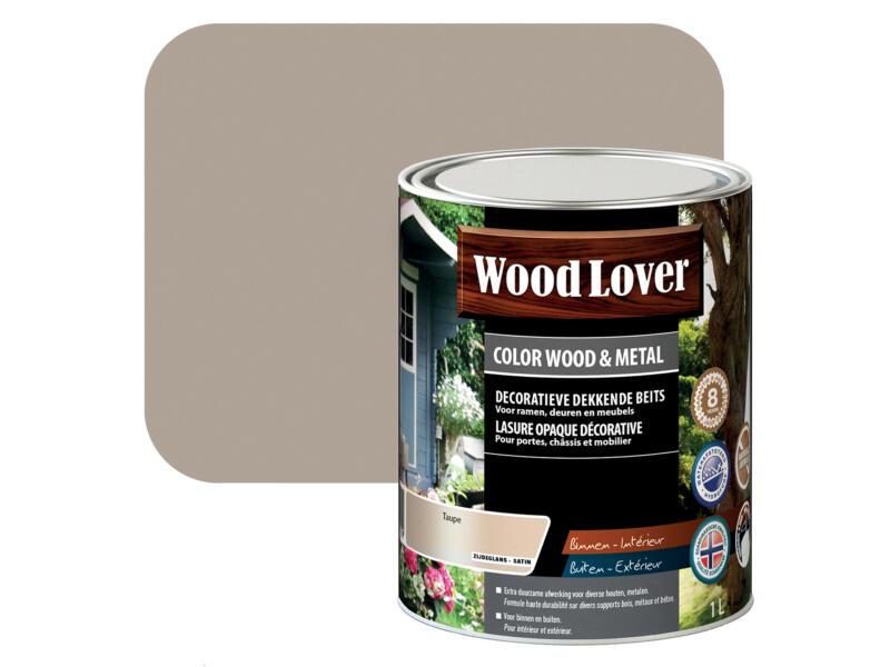 Wood Lover lasure bois & métal 1l taupe #530