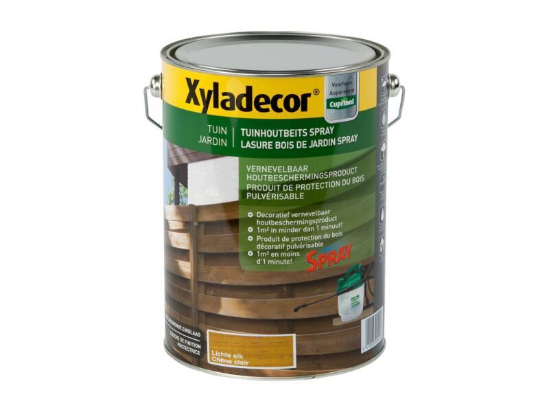 Xyladecor lasure bois de jardin à pulvériser 5l chêne clair