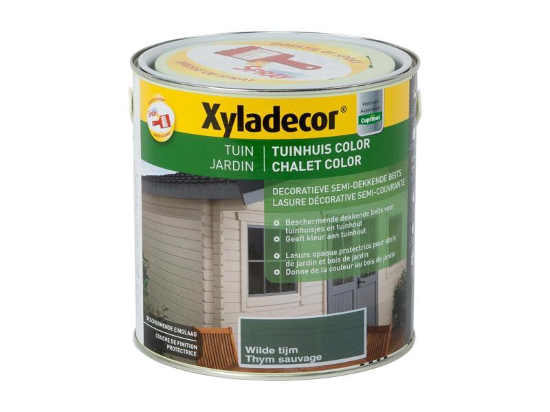Xyladecor lasure bois de jardin color 2,5l thym sauvage