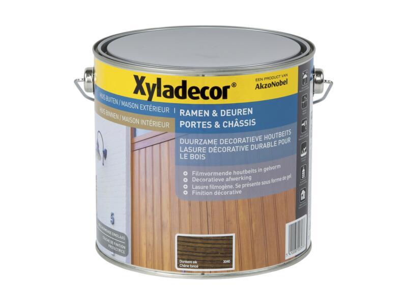 Xyladecor lasure bois portes & châssis 2,5l chêne foncé