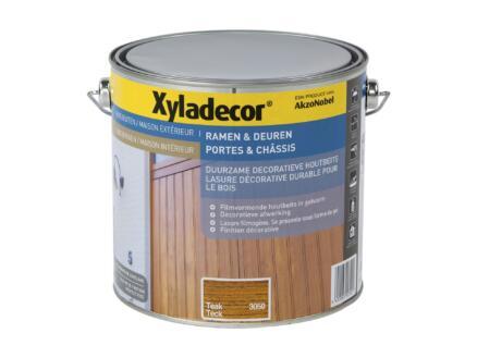Xyladecor lasure bois portes & châssis 2,5l teck