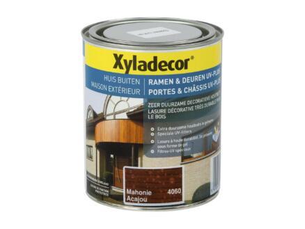 Xyladecor lasure portes & châssis UV-plus 0,75l acajou