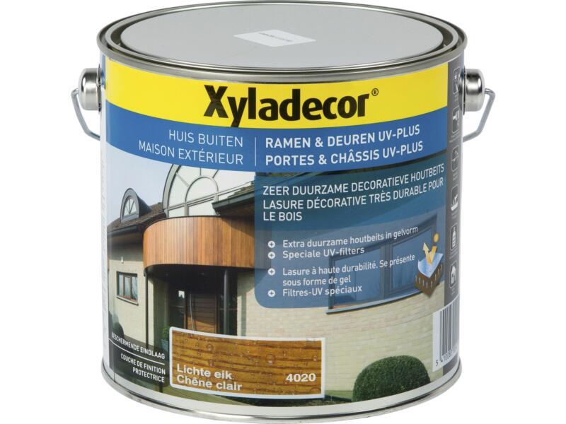 Xyladecor lasure portes & châssis UV-plus 2,5l chêne clair