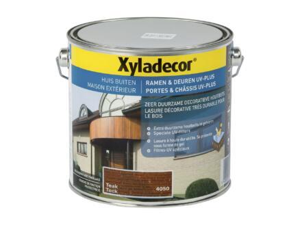 Xyladecor lasure portes & châssis UV-plus 2,5l teck