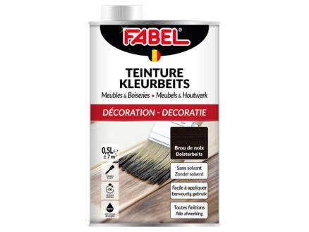 Fabel lasure teintée meubles & boiseries 0,5l brou de noix