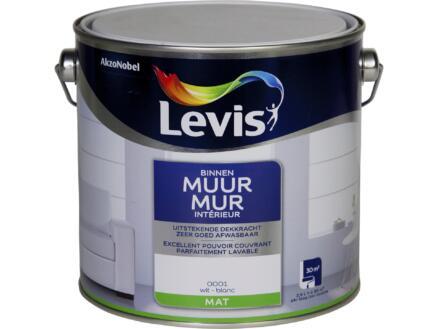 Levis latex muurverf mat 2,5l wit