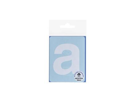 Multisign lettre autocollante a 90mm blanc mat