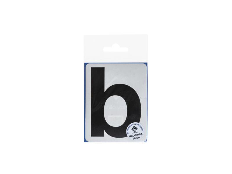 Multisign lettre autocollante b 90mm noir mat
