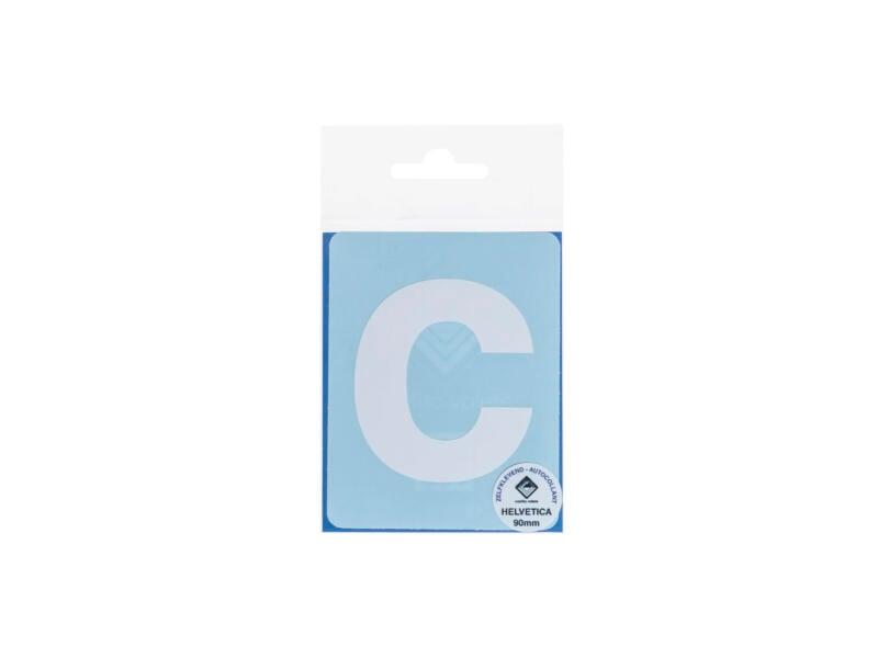 Multisign lettre autocollante c 90mm blanc mat