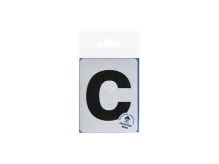 Multisign lettre autocollante c 90mm noir mat