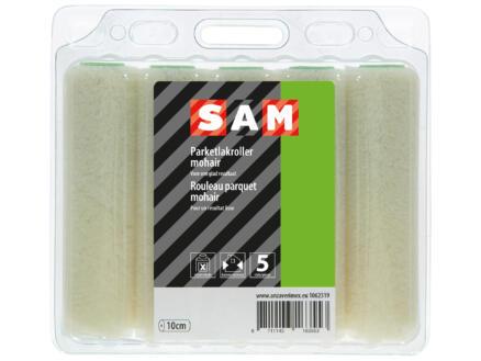 Sam manchon laqueur 10cm parquet mohair 5 pièces