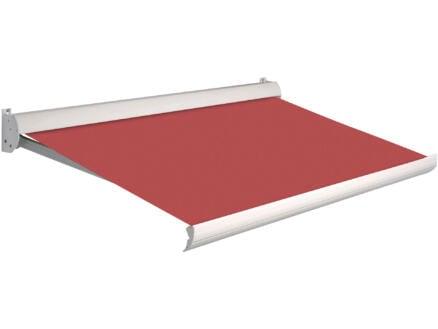 Domasol manuele zonneluifel F10 400x250 cm rood met crèmewit frame