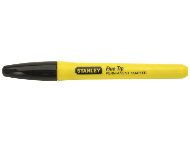 Stanley markeerstift fijne tip zwart
