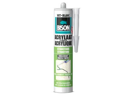 Bison mastic acrylique structure 310ml blanc