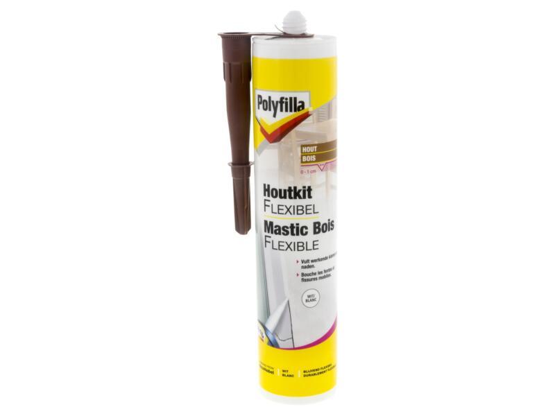 Polyfilla mastic bois 300ml blanc