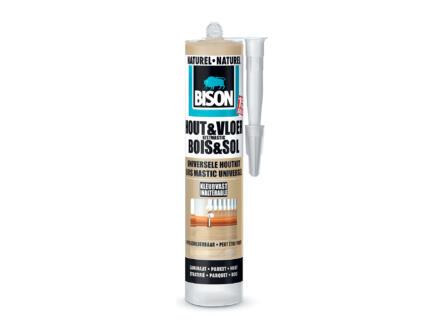 Bison mastic silicone bois & sol 300ml naturel