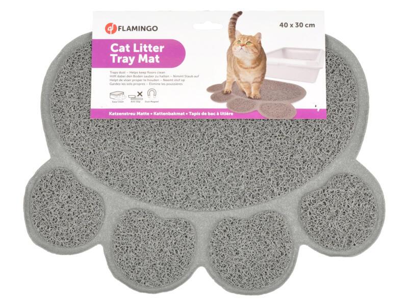 Flamingo mat kattenbak 40x30 cm antractietgrijs