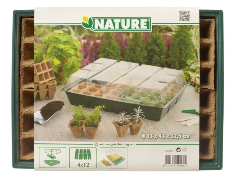 Nature maxi kweekkas met turfpotplaat