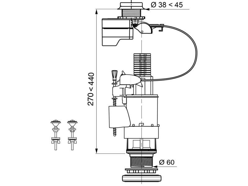 Wirquin mécanisme WC électronique