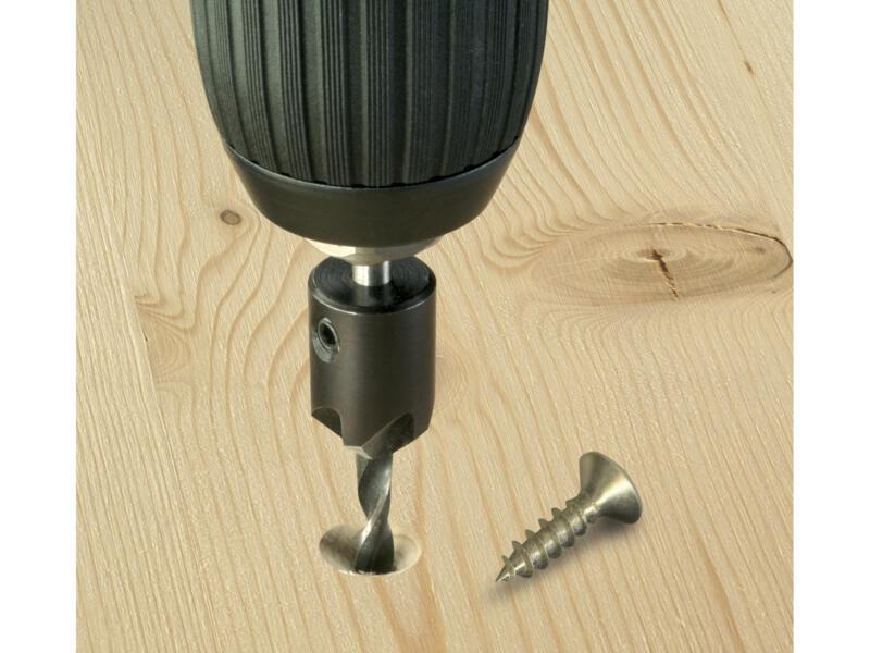 Bosch mèche à bois avec fraise conique à lamer 4mm